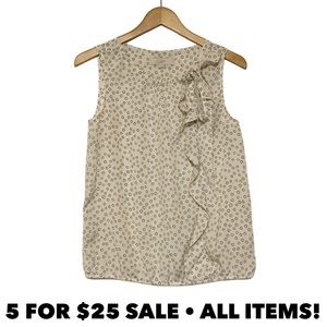 Loft Polka Dot Sleeveless Blouse